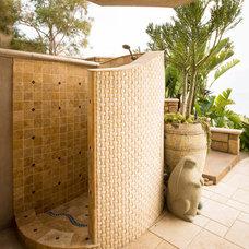 Mediterranean Patio by Gregory Davis & Associates