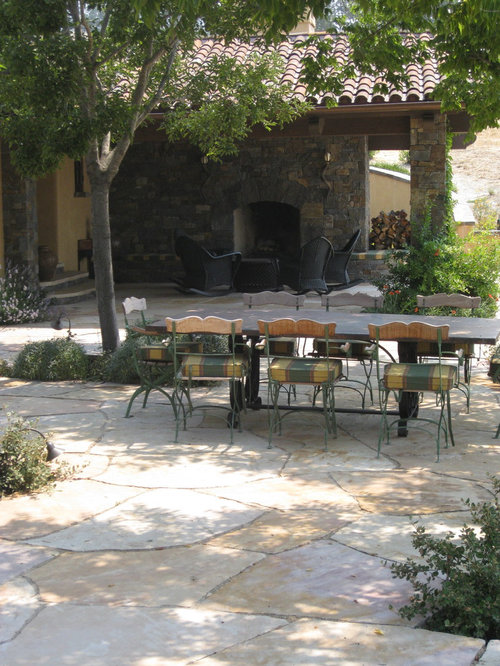 Inspiration For A Mediterranean Landscaping In San Francisco With Fire Pit