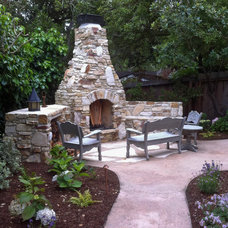 Traditional Patio by Robert Shuler Design