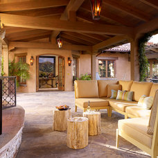 Mediterranean Patio by ScavulloDesign Interiors