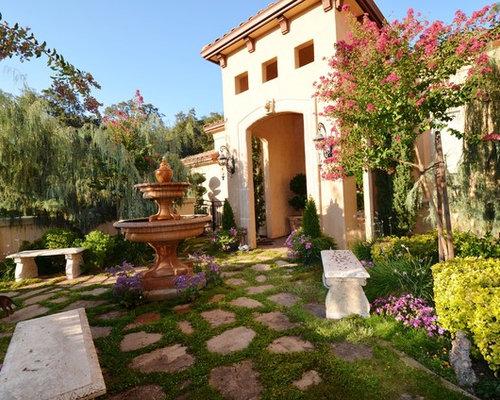 Mediterranean Front Yard Patio Design Ideas, Renovations ...