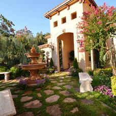 Mediterranean Patio by Story Design and Construction, Inc.