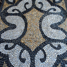 Traditional Patio by Pebble and Co. Mosaics