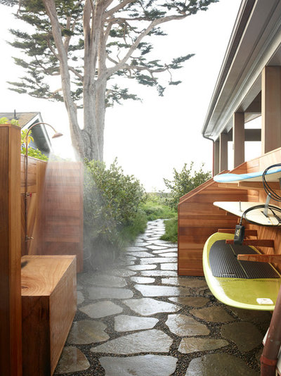 Beach Style Patio by The Office of Charles de Lisle