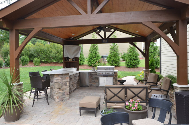 Traditional Patio by Down to Earth Designs, Inc.