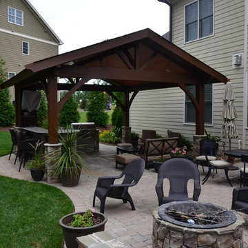 Cary outdoor living room