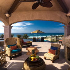 Beach Style Patio by Dennis Baldwin Interiors