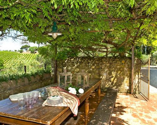 Foto e idee per patii e portici patio o portico in campagna for Costo per costruire un portico anteriore