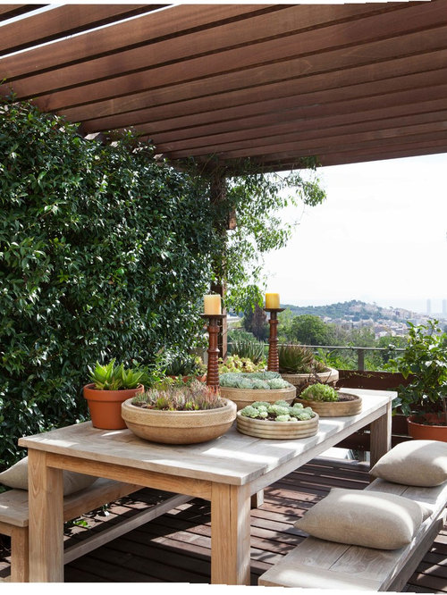Patio Design Ideas Remodels Photos With A Pergola And A