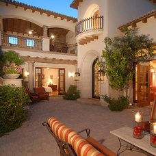 Mediterranean Patio by Integrity Luxury Homes