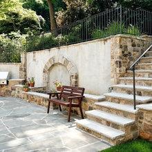 retaining wall/terraces