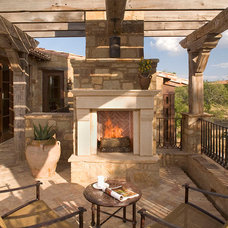 Mediterranean Patio by Rachel Mast Design