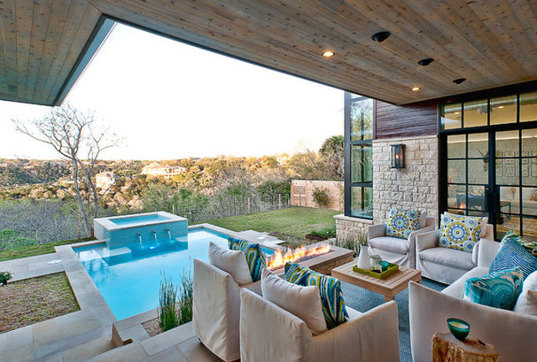 Transitional Patio by Cornerstone Architects