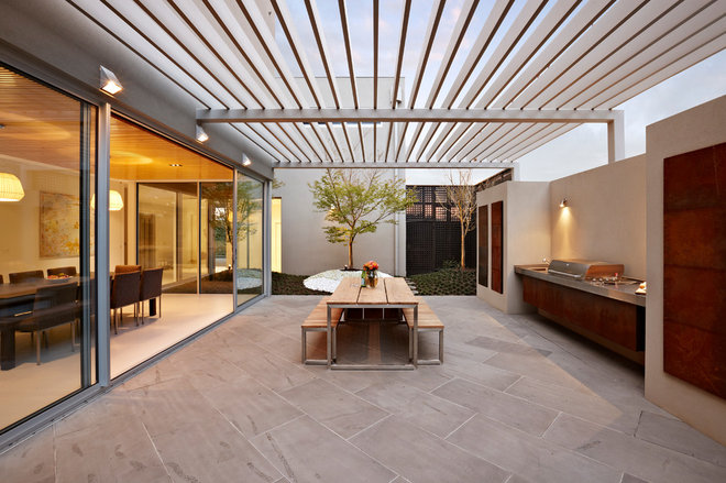 Contemporary Patio by Nathan Burkett Design
