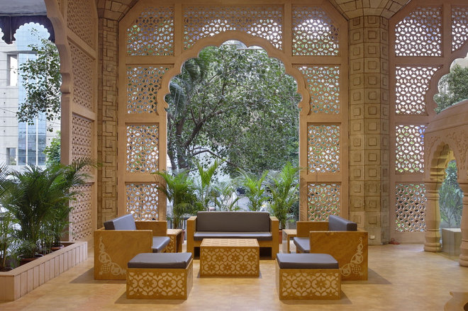 Indian Patio by Planet 3 Studios Architecture Pvt. Ltd