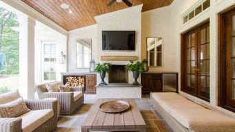 Cedar Porch Ceiling With Beveled Cypress Siding