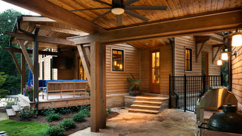 Cedar Porch Ceiling With Beveled Cypress Siding
