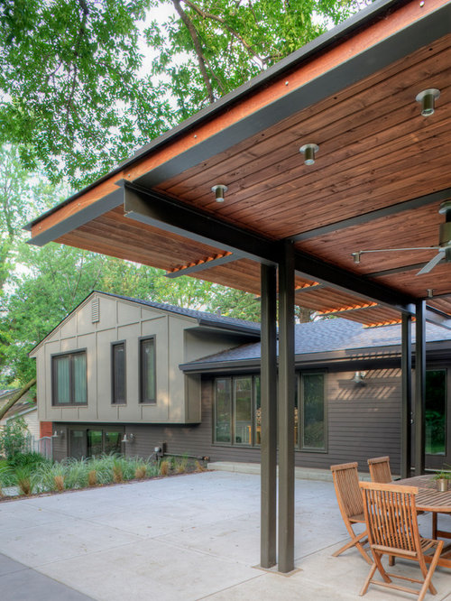Pergola steel houzz for Pergola images houzz
