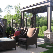Transitional Patio by Monarch Home and Garden