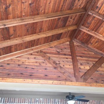Ceiling of our most common patio cover.  For the same cost, you can enclose the