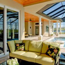 Tropical Patio by Christopher Burton Homes, Inc.