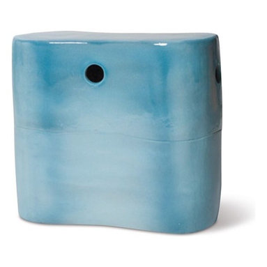 Ceramic Outdoor Stool or Table - Ceramic outdoor stool or side table.