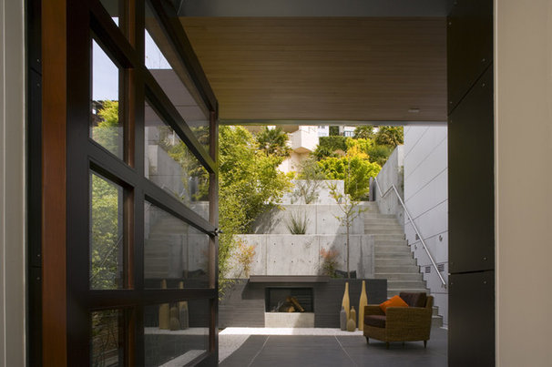 Contemporary Patio by Charles Debbas Architecture