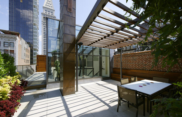 Contemporary Patio by Charles Rose Architects Inc.