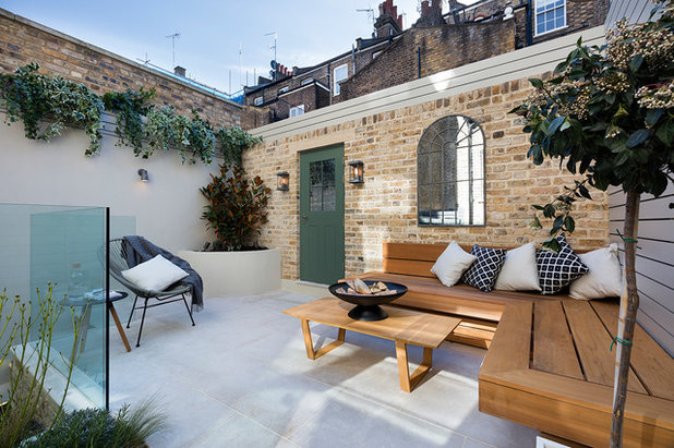 Transitional Patio by Nathalie Priem Photography