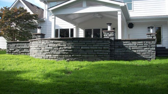 Chesterfield, Missouri Bluestone Masonry Walls with Charcoal Colored Mortar