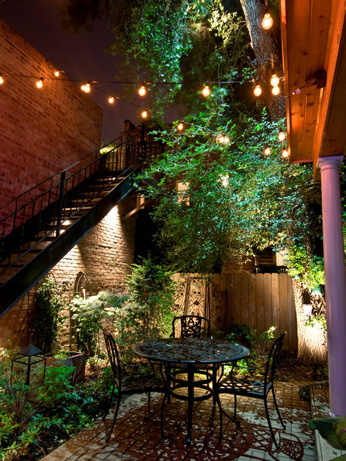 Inspiration for a timeless patio remodel in Chicago - High-end Outdoor Lighting Houzz