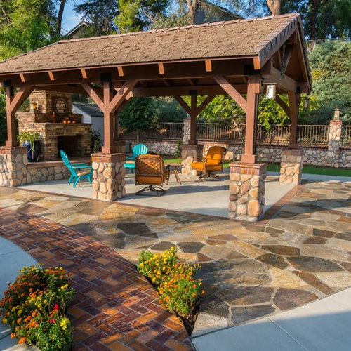 Best Stone Patio Ideas Decoration Pictures Houzz - Stone patio design
