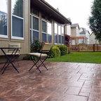 Stamped Concrete Brick Border Traditional Patio