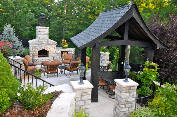 Traditional Patio by Tepe Landscaping Services