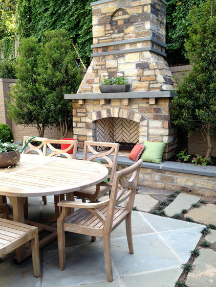 Traditional Patio by Petals and Paths Garden & Landscape Design