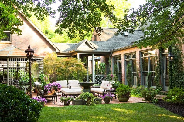 Traditional Patio by Linda McDougald Design   Postcard from Paris Home
