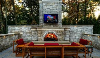 Classic Limestone Fireplace