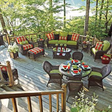 Classic resin wicker patio furniture