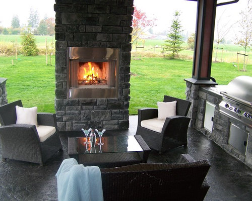 Fireplace cover up ideas home design ideas renovations for Outdoor kitchen ideas houzz