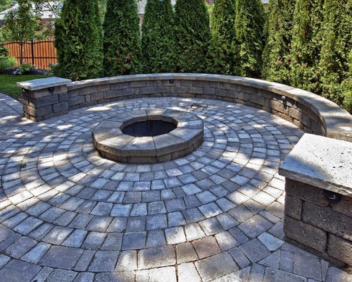 Elegant Patio Photo In St Louis With A Fire Pit