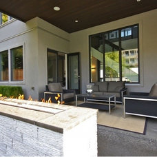 Contemporary Patio by Done to the Nines