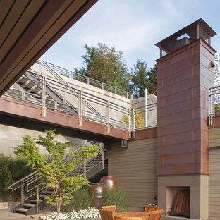 Patio - contemporary courtyard patio idea in Seattle