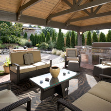 Mediterranean Patio by Urban Oasis Design & Construction LLC