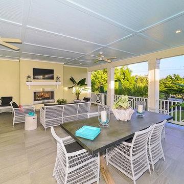 Coastal-Craftsman Florida Outdoor Great Room