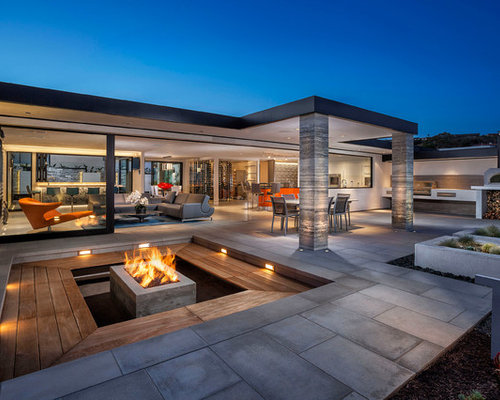 photos et id es d co de tr s grandes terrasses contemporaines. Black Bedroom Furniture Sets. Home Design Ideas