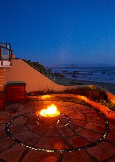 Beach Style Patio by Jeffrey Gordon Smith Landscape Architecture
