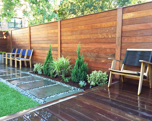 How To Design A Backyard design the perfect backyard Cobble Hill Brooklyn Garden Design Backyard With Stepping Stones Turf Fence