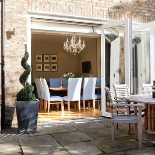 Inspiration for a victorian patio in London with no cover.
