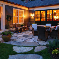 Farmhouse Patio by Fine Lines Construction