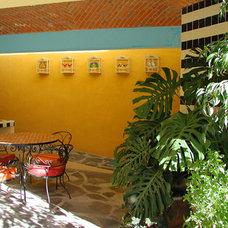 Mediterranean Patio by Larcade Larcade, Arch., Interior Design and Color
